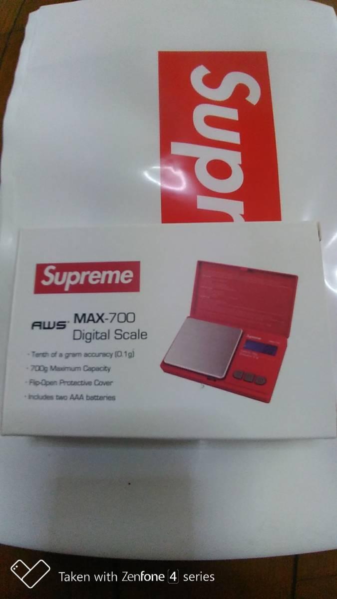 新品込み18aw Supreme AWS MAX-700 Digital Scale Red シュプリーム デジタル スケール 計量器 量り_画像3