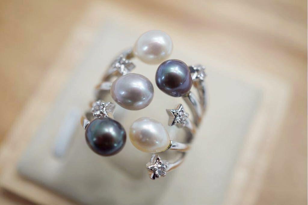 191 ソーティング付き 本真珠 パール ヴィンテージリング 指輪 アクセサリー 昭和レトロ アンティーク 宝石 冠婚葬祭 装飾品 10.5号_画像2
