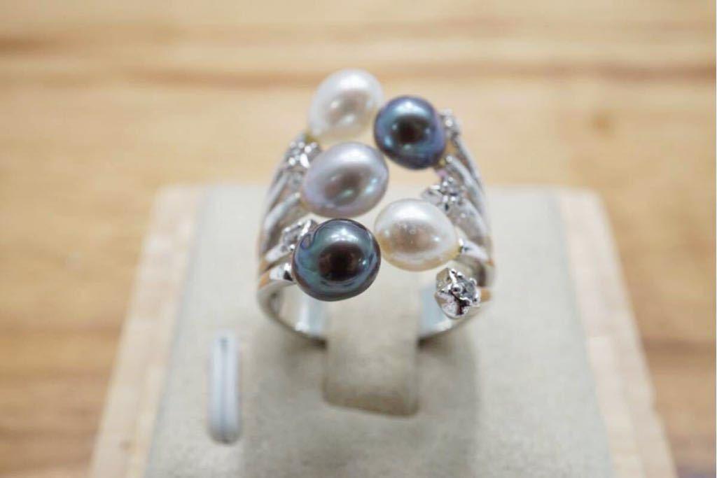 191 ソーティング付き 本真珠 パール ヴィンテージリング 指輪 アクセサリー 昭和レトロ アンティーク 宝石 冠婚葬祭 装飾品 10.5号_画像4