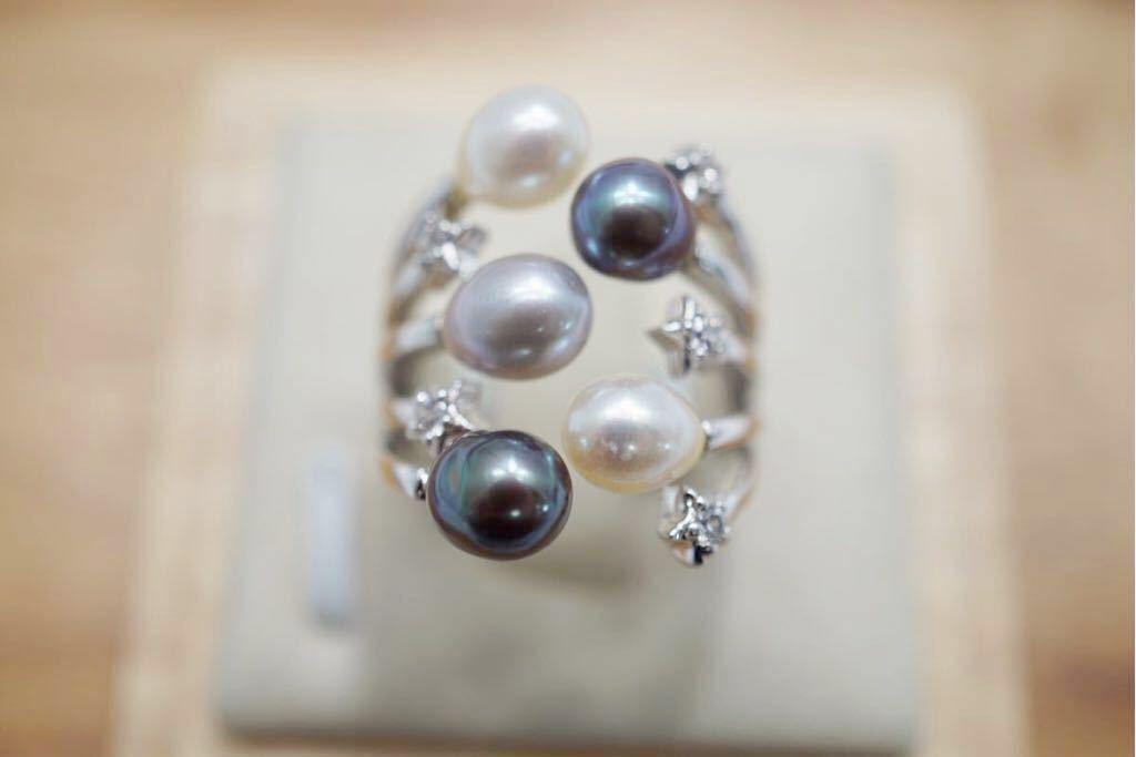 191 ソーティング付き 本真珠 パール ヴィンテージリング 指輪 アクセサリー 昭和レトロ アンティーク 宝石 冠婚葬祭 装飾品 10.5号_画像3