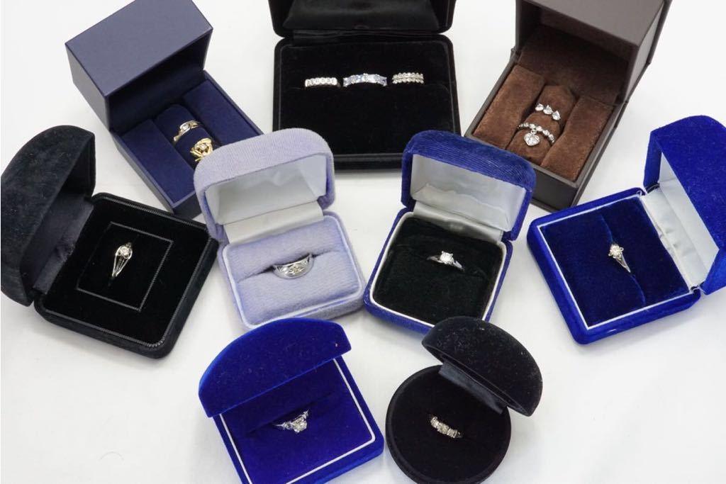 223 昭和レトロ ケース付き ヴィンテージリング 指輪 13点セット アクセサリー アンティーク 大量 まとめて おまとめ まとめ売り 装飾品