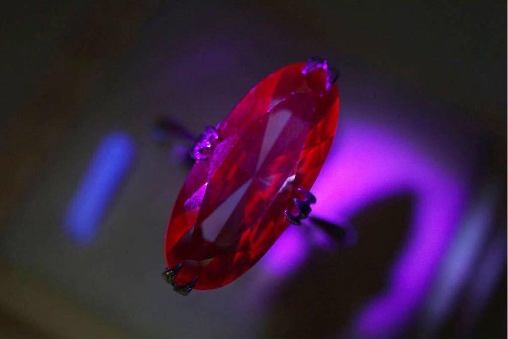 251 カラーチェンジサファイア 千本透かし 訳あり ヴィンテージリング 指輪 アクセサリー アンティーク 天然石 カラーストーン SILVER刻印_画像4