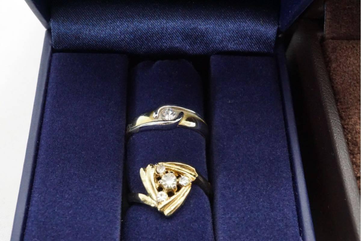 223 昭和レトロ ケース付き ヴィンテージリング 指輪 13点セット アクセサリー アンティーク 大量 まとめて おまとめ まとめ売り 装飾品_画像5