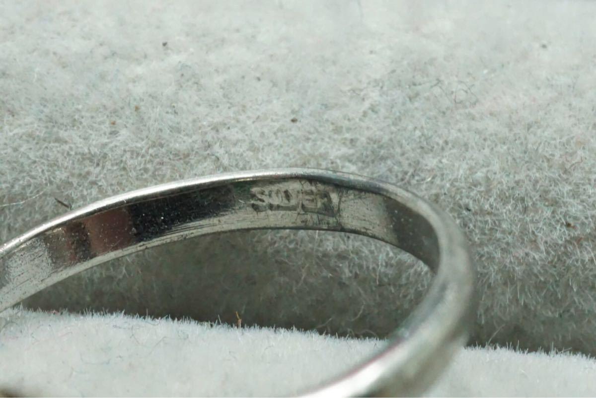 13 千本透かしなど 天然石系 ヴィンテージリング 指輪 6点セット アクセサリー SILVER刻印多数 アンティーク 大量 まとめて おまとめ_画像9