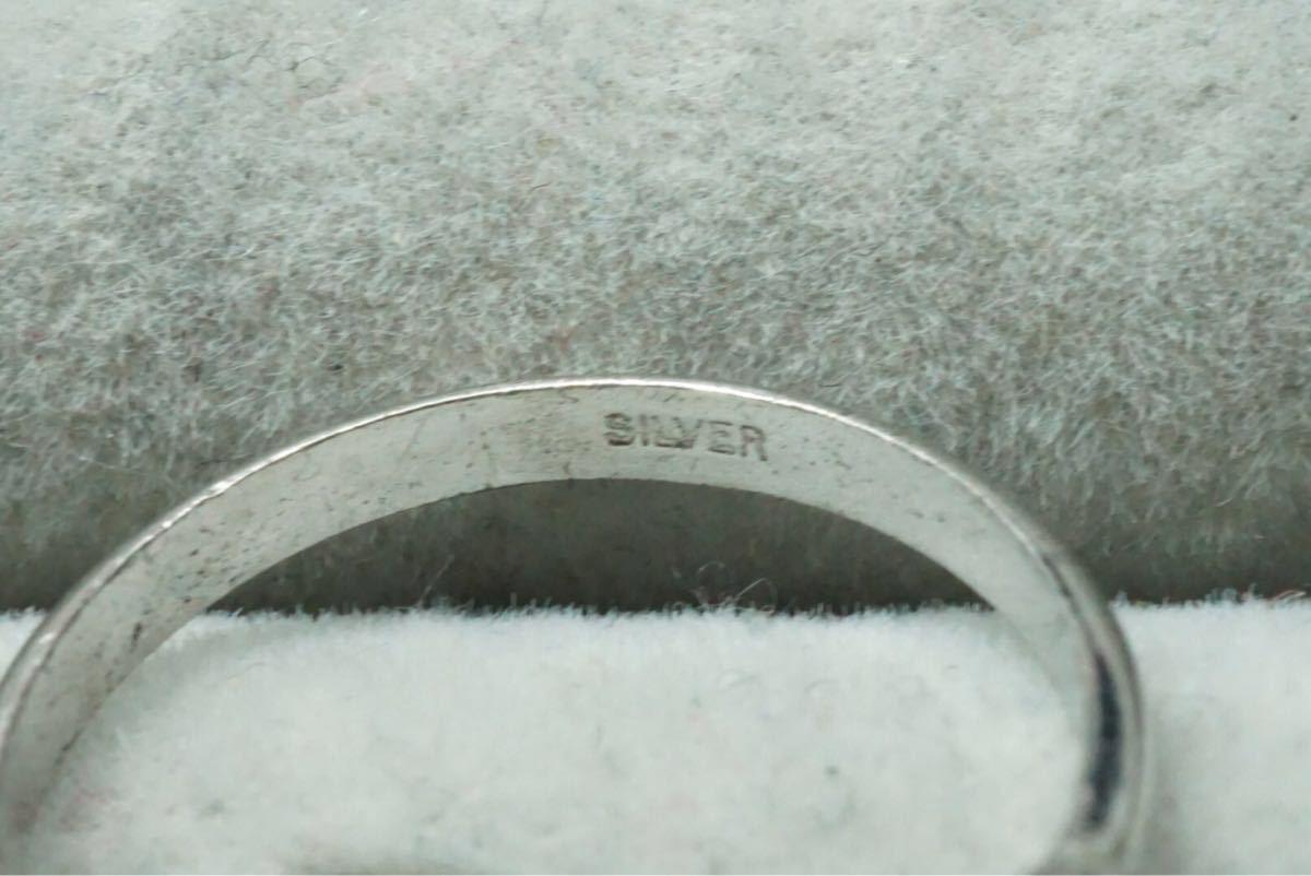 13 千本透かしなど 天然石系 ヴィンテージリング 指輪 6点セット アクセサリー SILVER刻印多数 アンティーク 大量 まとめて おまとめ_画像8