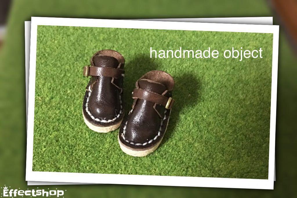 ハンドメイド 革靴 ブーツ ミニチュア 栃木レザー使用 (ピュアニーモS サイズ) 濃茶色 ブラウン リバティ