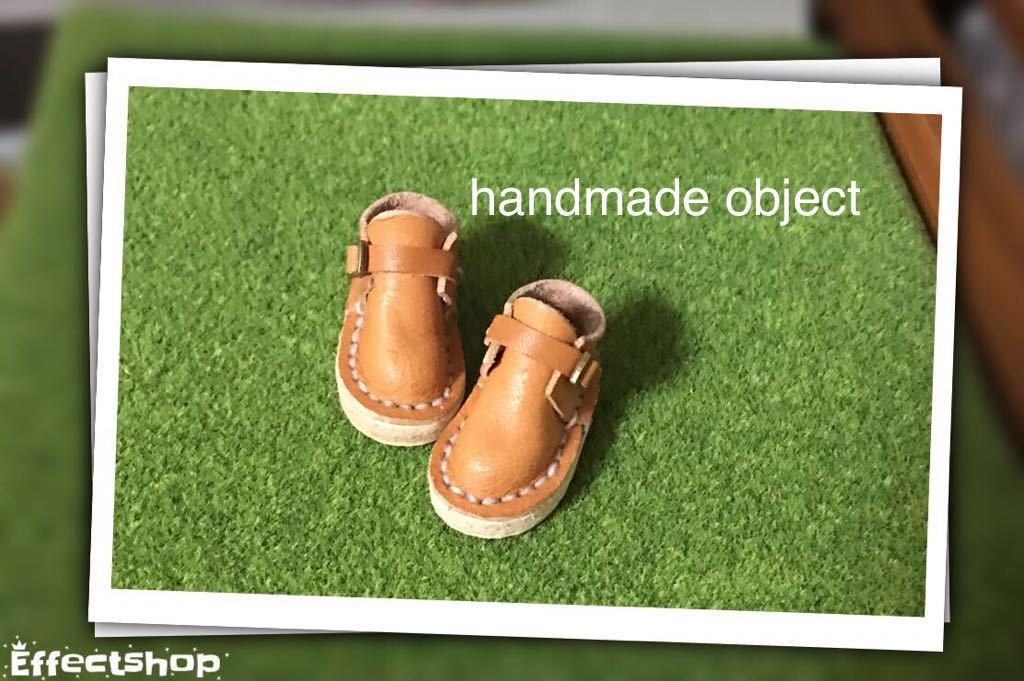 ハンドメイド 革靴 ブーツ ミニチュア 栃木レザー使用 (ピュアニーモS サイズ) 茶色 キャラメル 薄茶 リバティ