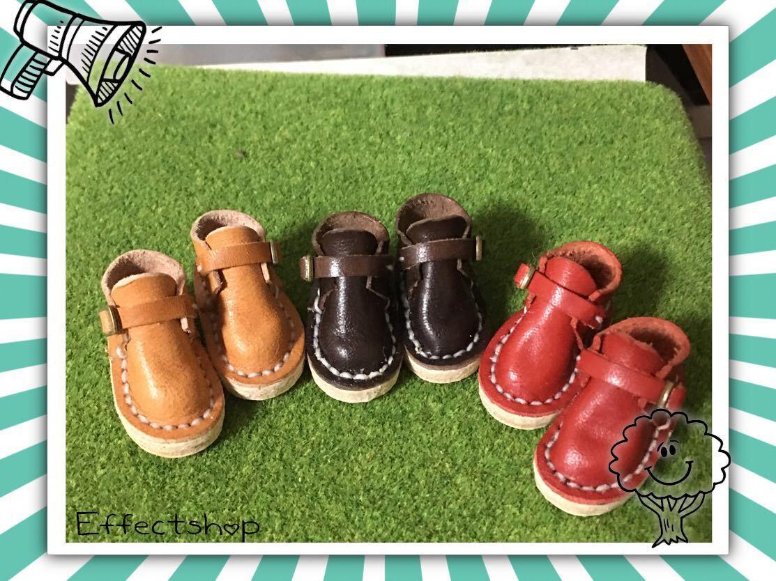 ハンドメイド 革靴 ブーツ ミニチュア 栃木レザー使用 (ピュアニーモS サイズ) 濃茶色 ブラウン リバティ_画像6