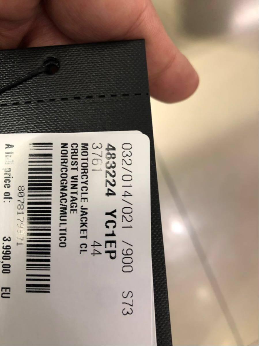 超希少 サンローランパリ ワッペン牛革レザーライダースジャケット イタリア直営店購入 size44 定価50万円_画像10