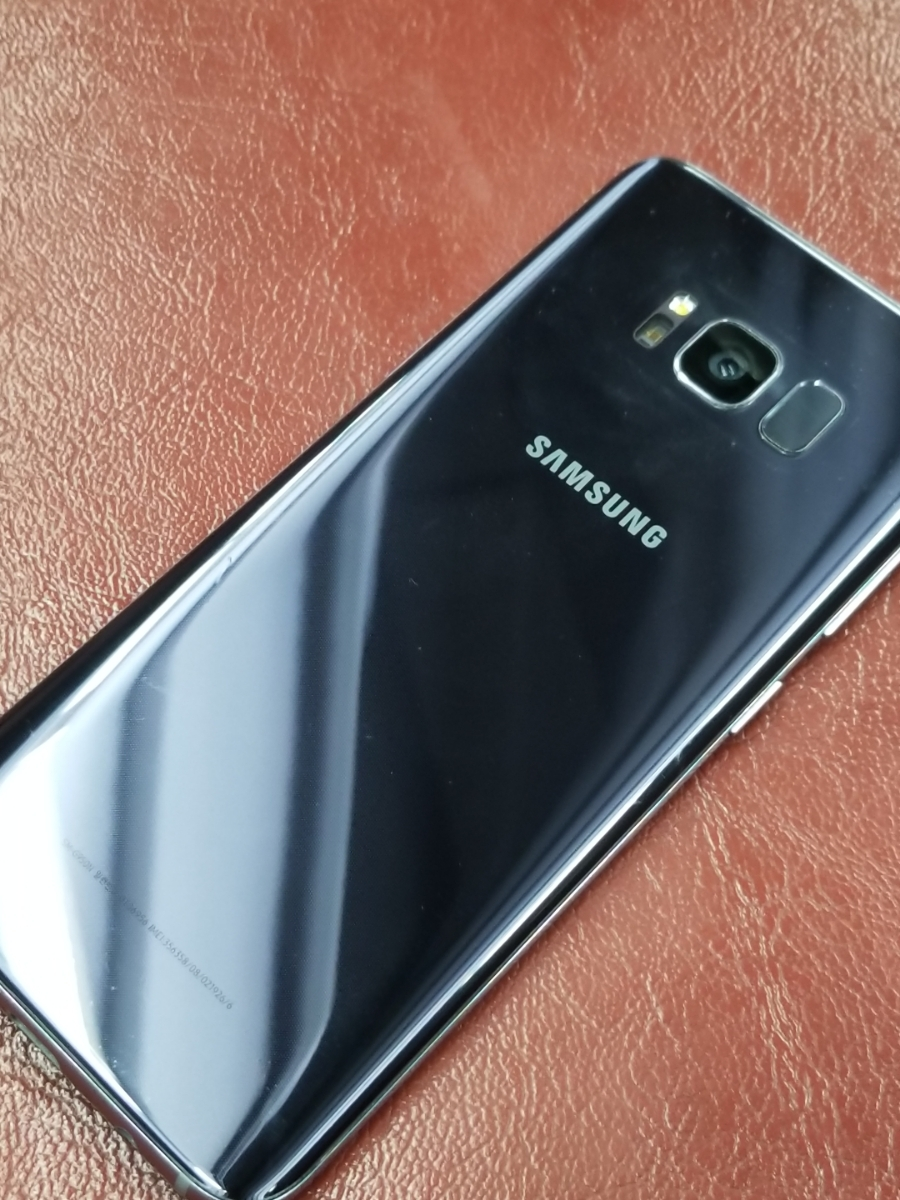 公式Simフリー 美品 Dual Sim Galaxy S8 SM-G950FD Orchard Gray (F)_画像4