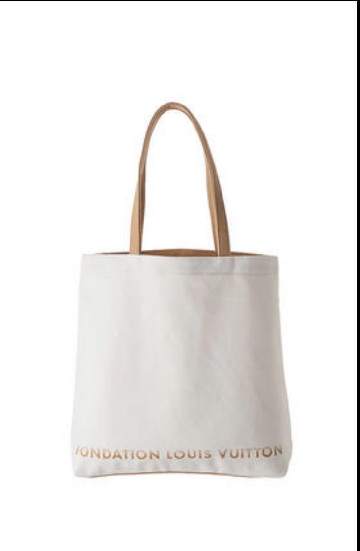 【即日発送】■新品 FONDATION LOUIS VUITTON ★ルイヴィトン美術館 限定品 トートバッグ 白色