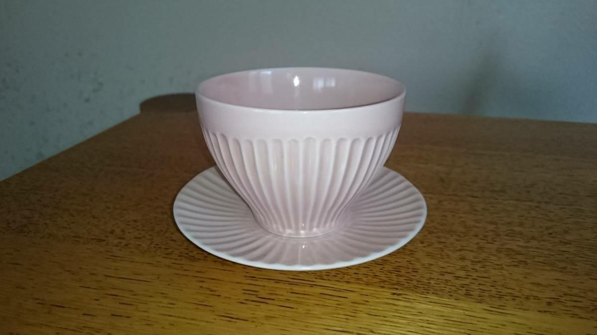 波佐見焼(有田焼) 一龍陶苑 煎茶碗セットペア(ピンク)_画像1