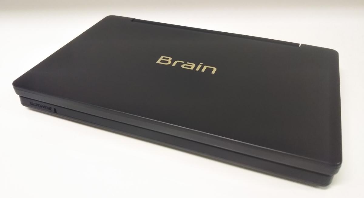送料無料シャープ動作品SHARP清掃済カラー電子辞書Brain高校生モデル英和PW-SH3百科事典ブラック黒系_画像3