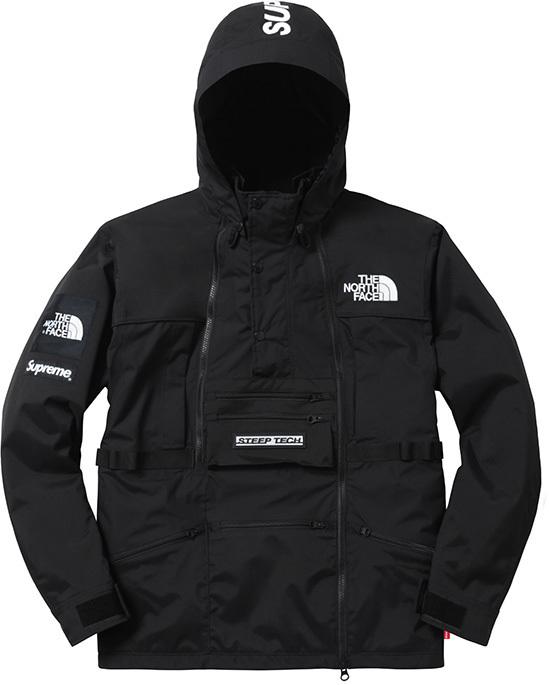 美品 16ss Supreme The North Face Steep Tech Hooded jacket シュプリーム ノースフェイス Black 黒 S boxlogp