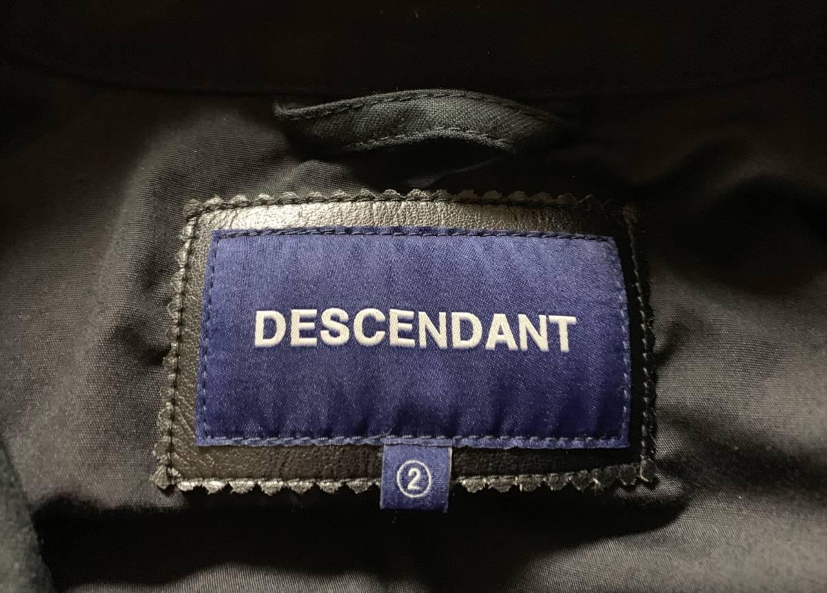 DESCENDANT ディセンダント 1943 SATIN JACKET 2 即決 BLACK 新品 ブラック サテン ジャケット 17 AW 未使用 正規品 MASASCULP CACHALOT 黒_画像6