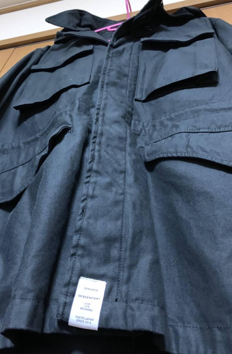 DESCENDANT ディセンダント 1943 SATIN JACKET 2 即決 BLACK 新品 ブラック サテン ジャケット 17 AW 未使用 正規品 MASASCULP CACHALOT 黒_画像4
