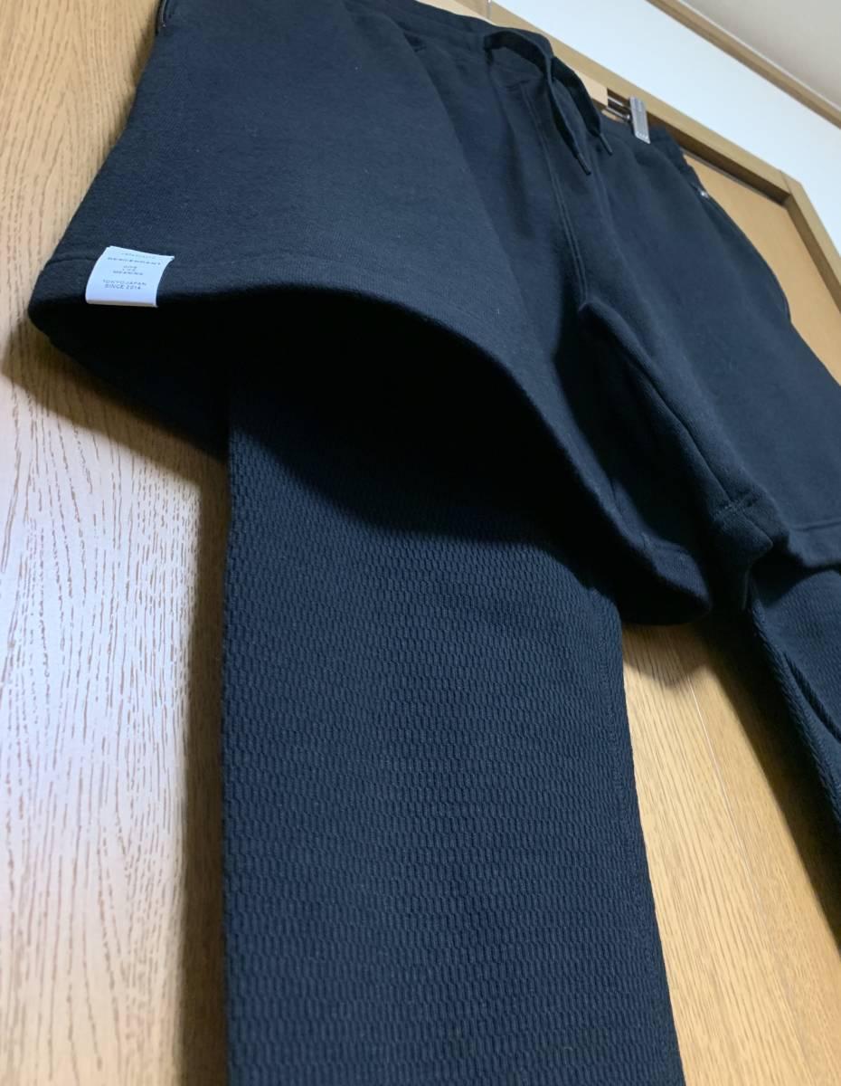 DESCENDANT ディセンダント CLIFF LAYERED SHORTS BLACK 2 M 即決 新品 レイヤード ショーツ 黒 スウェット サーマル 17 A/W ブラック AW_画像2
