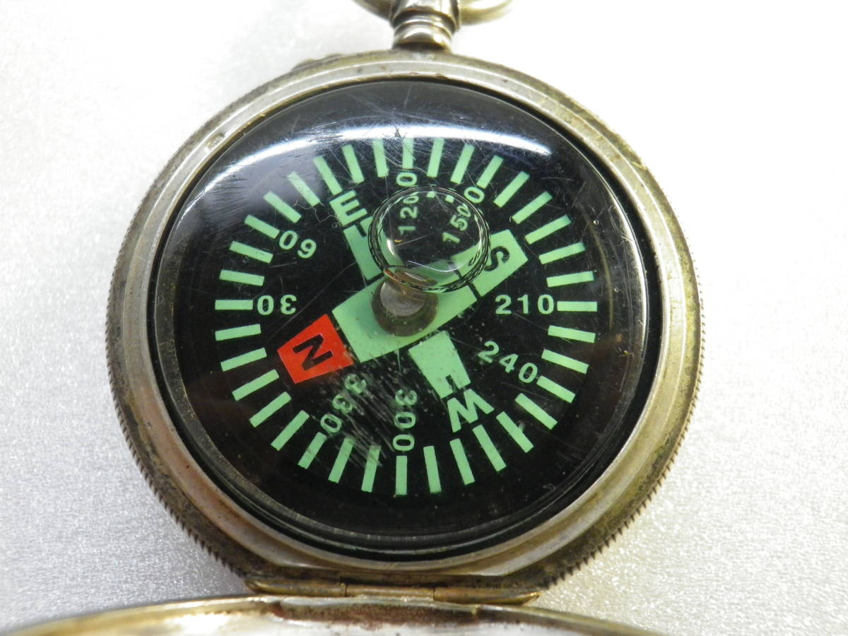 ★【SILVER800英国銀懐中時計型手作り品?方位磁石】★_画像8