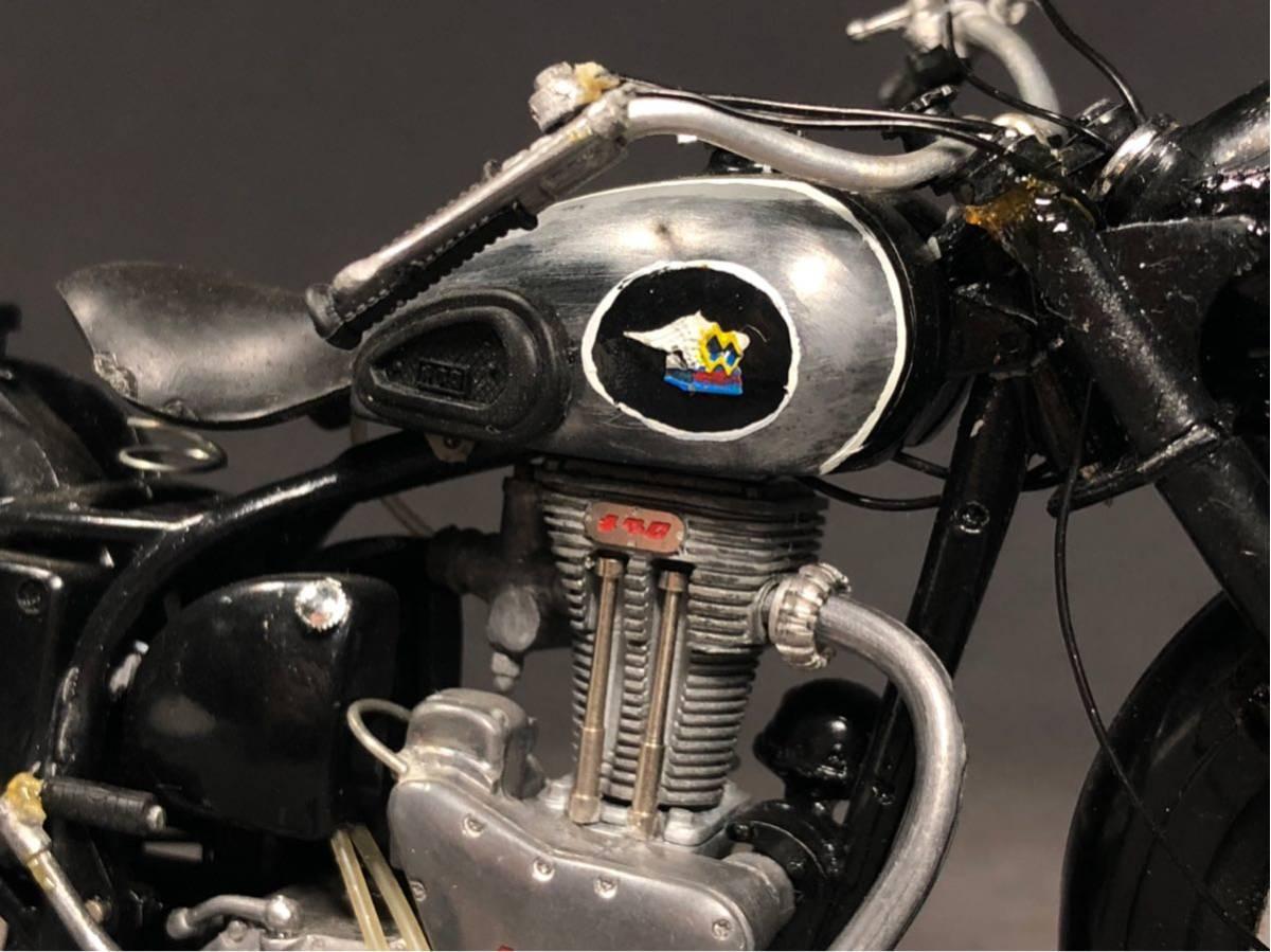 昭和レトロ メグロ プラモデル 完成品 極上精密 バイク Z6 Z7 絶版 グンゼ HIGH-TECH MODEL ハイテックモデル MEGURO ビンテージ_画像10