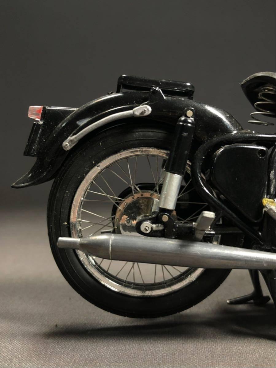 昭和レトロ メグロ プラモデル 完成品 極上精密 バイク Z6 Z7 絶版 グンゼ HIGH-TECH MODEL ハイテックモデル MEGURO ビンテージ_画像8