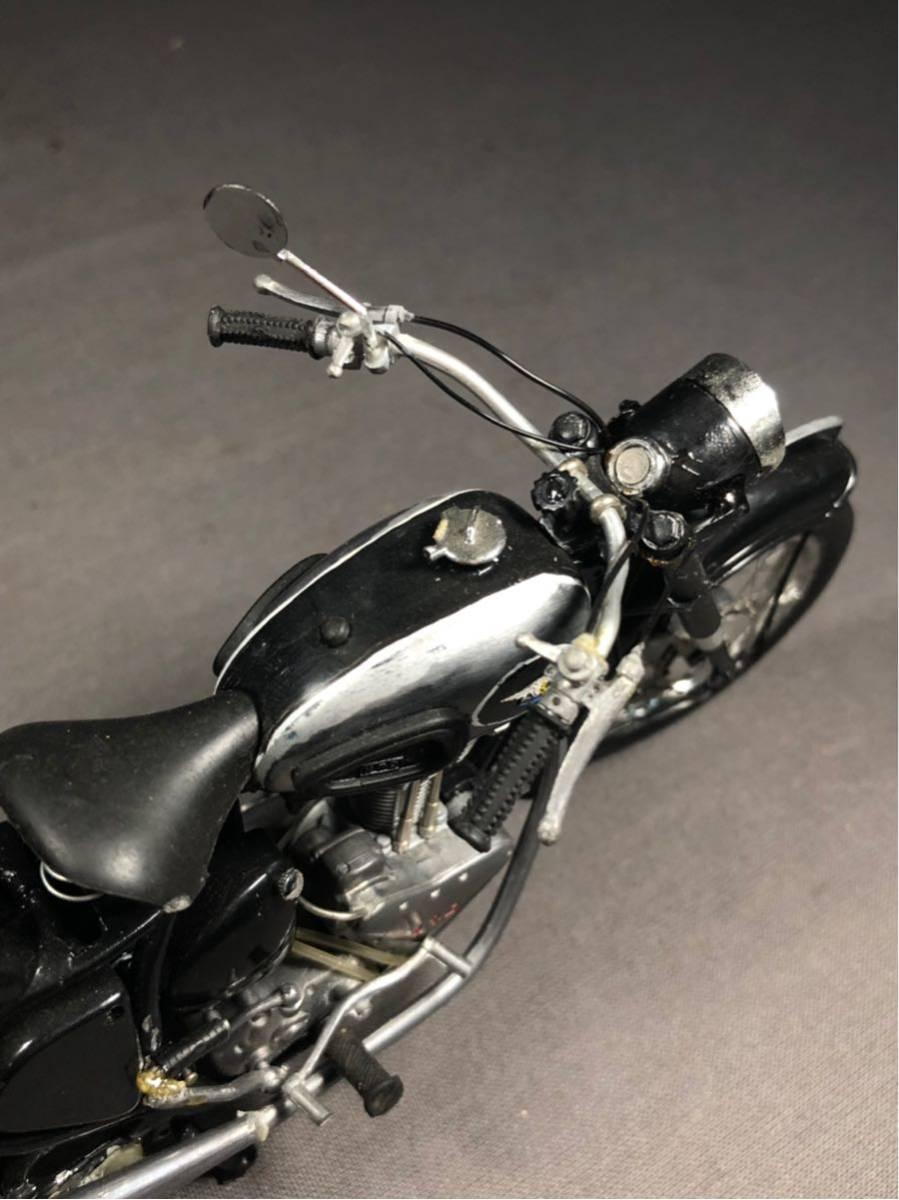 昭和レトロ メグロ プラモデル 完成品 極上精密 バイク Z6 Z7 絶版 グンゼ HIGH-TECH MODEL ハイテックモデル MEGURO ビンテージ_画像6