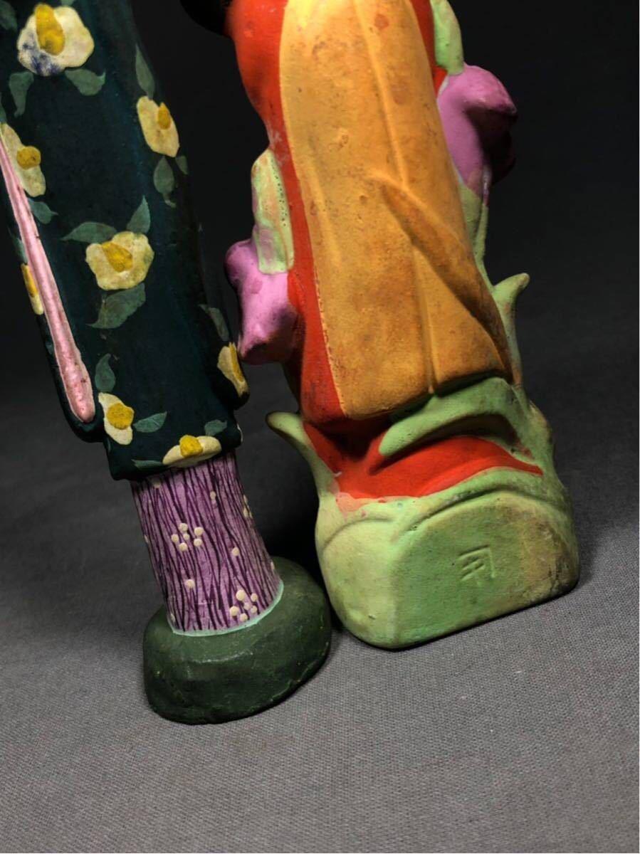 昭和レトロ 大正ロマン 少女 磁器人形 乙女頃 着物 日本人形 検 戦前 土人形 射的人形 モボモガ モダンガール 当時物 春画 ドール_画像9