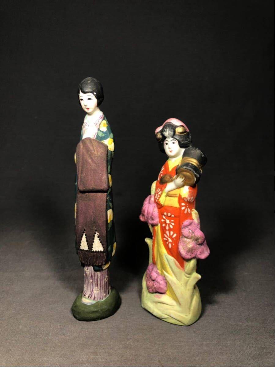 昭和レトロ 大正ロマン 少女 磁器人形 乙女頃 着物 日本人形 検 戦前 土人形 射的人形 モボモガ モダンガール 当時物 春画 ドール