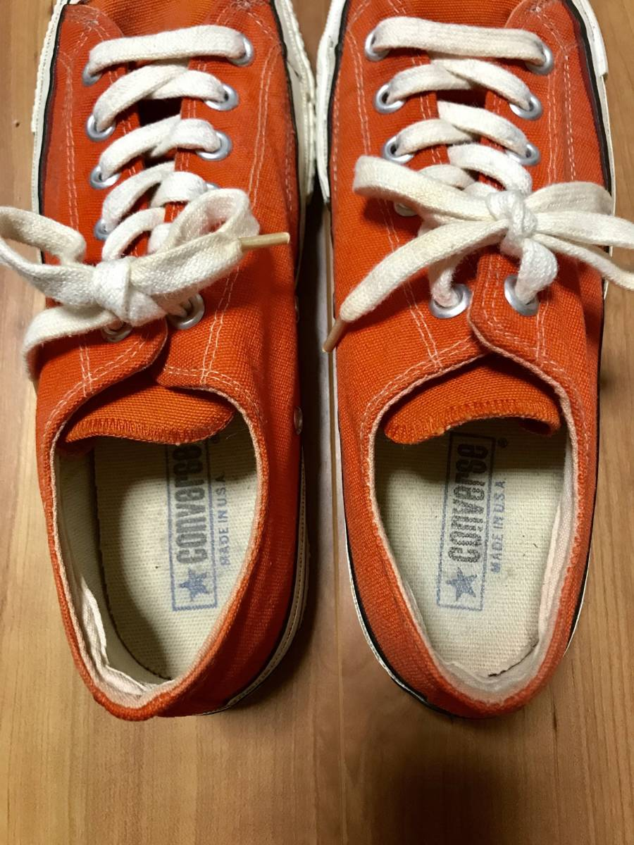 美品 チャックテイラー USA製 70年代 オリジナル ビンテージ オレンジ_画像3