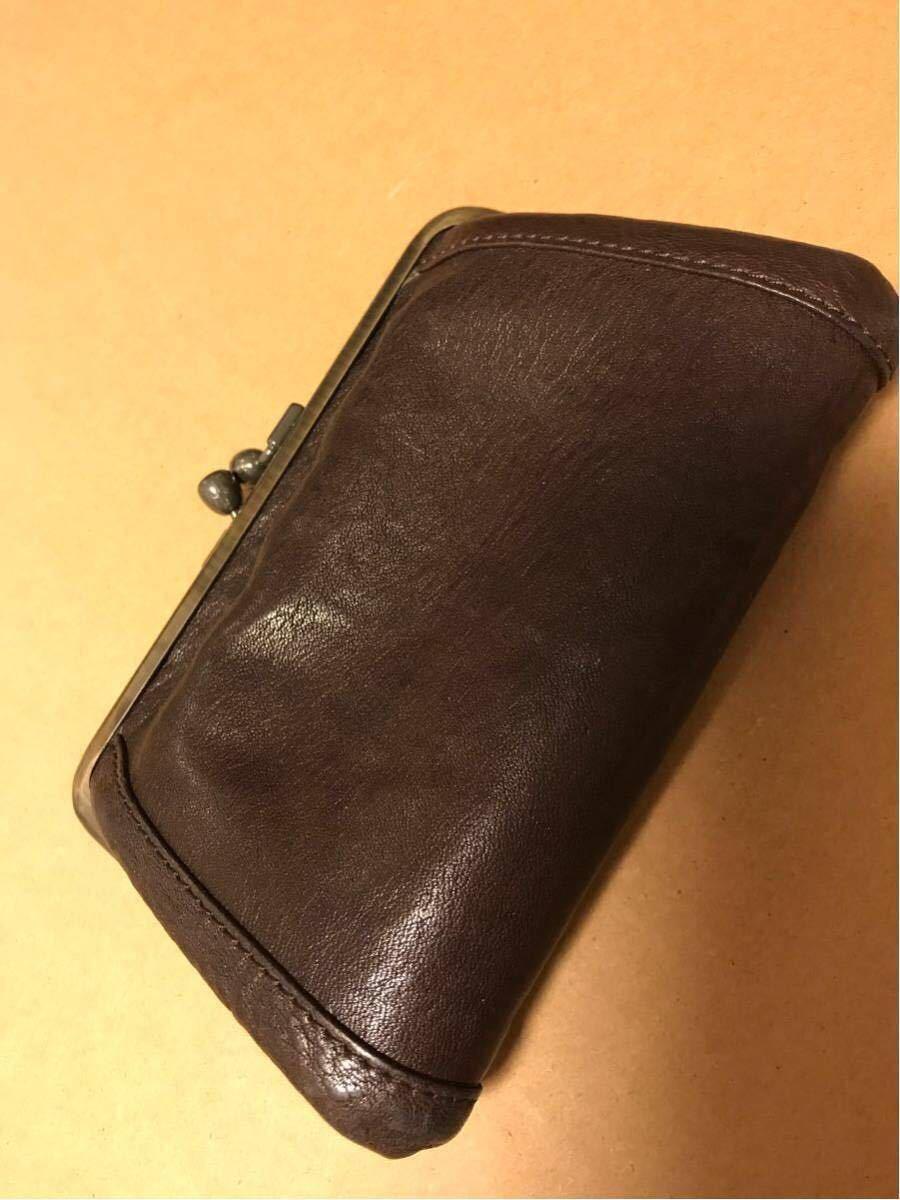 土屋鞄製作所トーンオイルヌメ革がま口財布 ブラウン こげ茶 _画像4