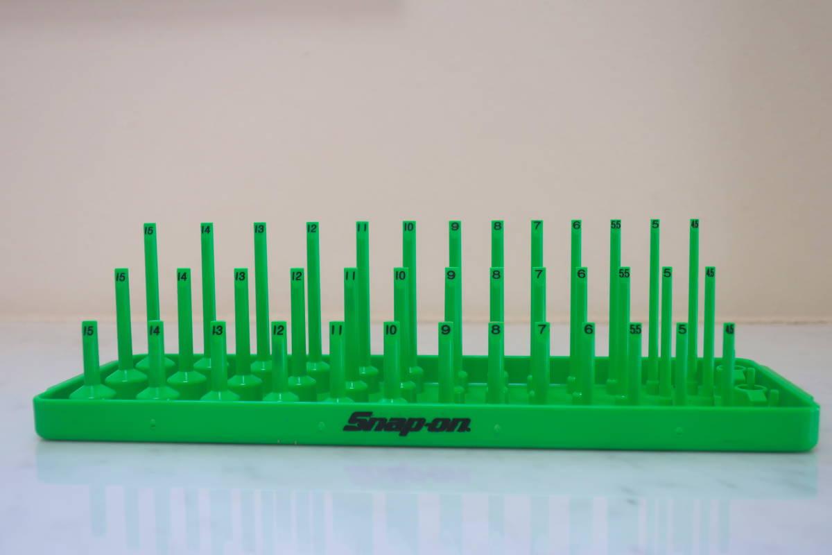 Snap-on 新品 1/4 3列ソケットホルダー グリーン ショート セミディープ ディープ スナップオン