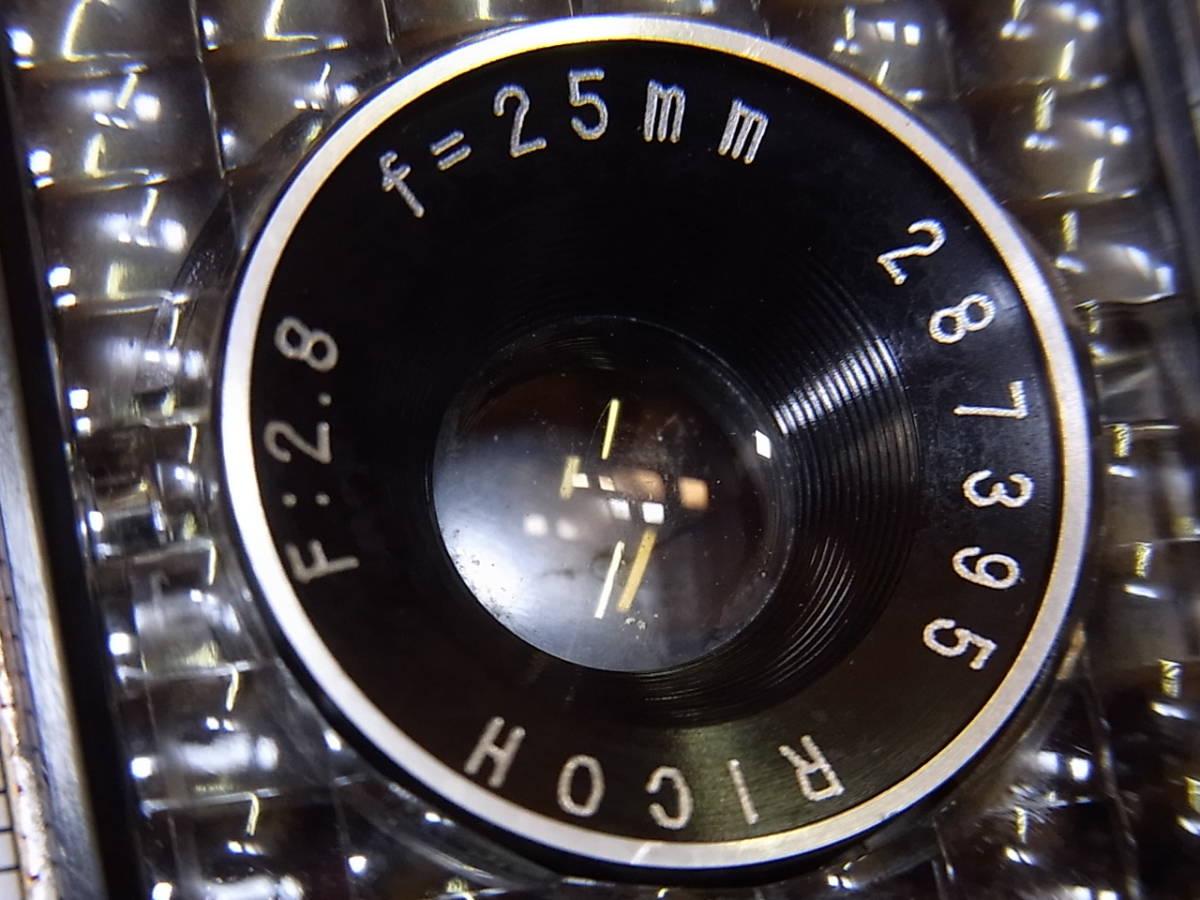 リコー オート ハーフ E/RICOH AUTO HALF E (25mm f2.8) キャップ/リストストラップ付_画像9