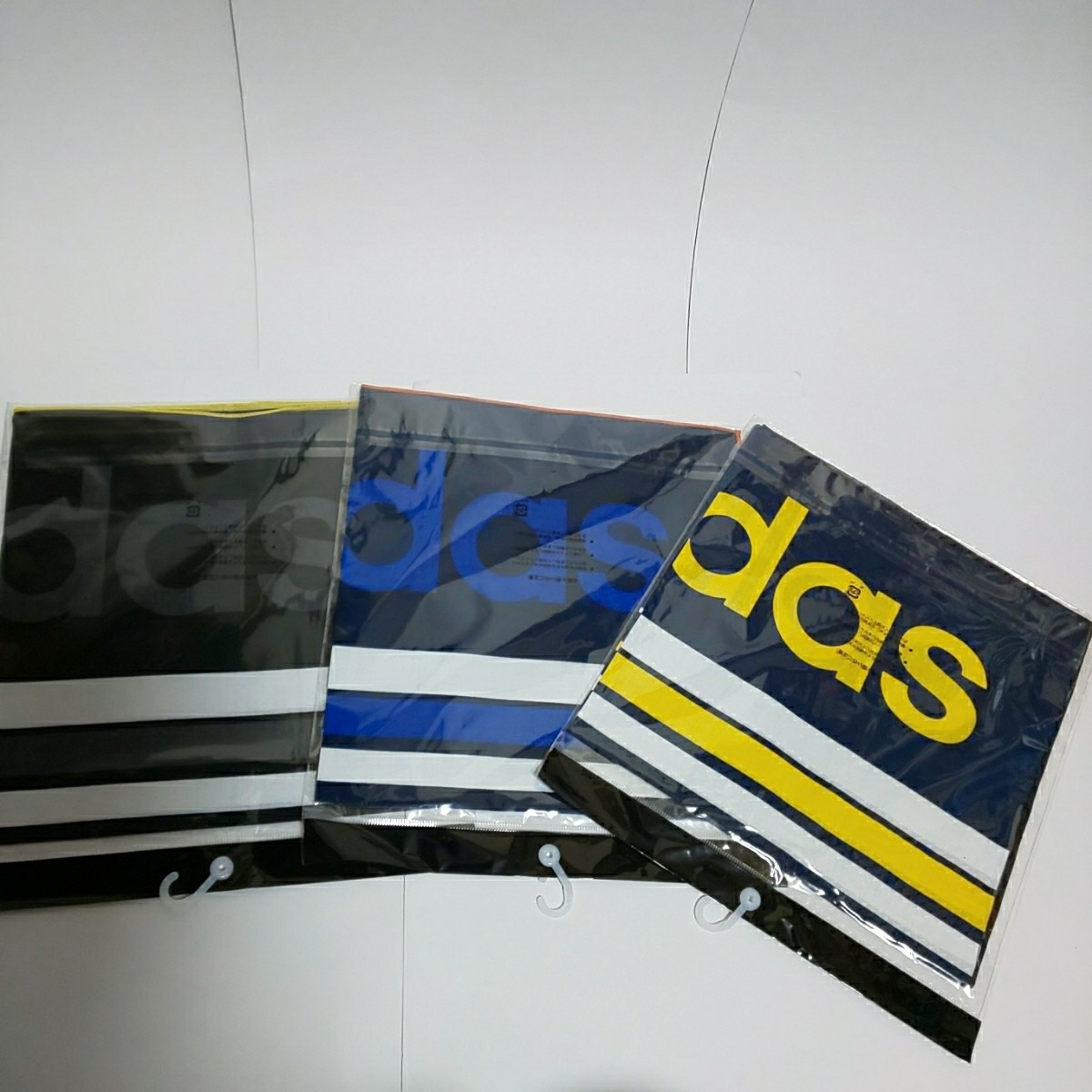 新品 adidas ランチーフ 3枚セット アディダス ランチクロス 給食ナフキンに _画像2