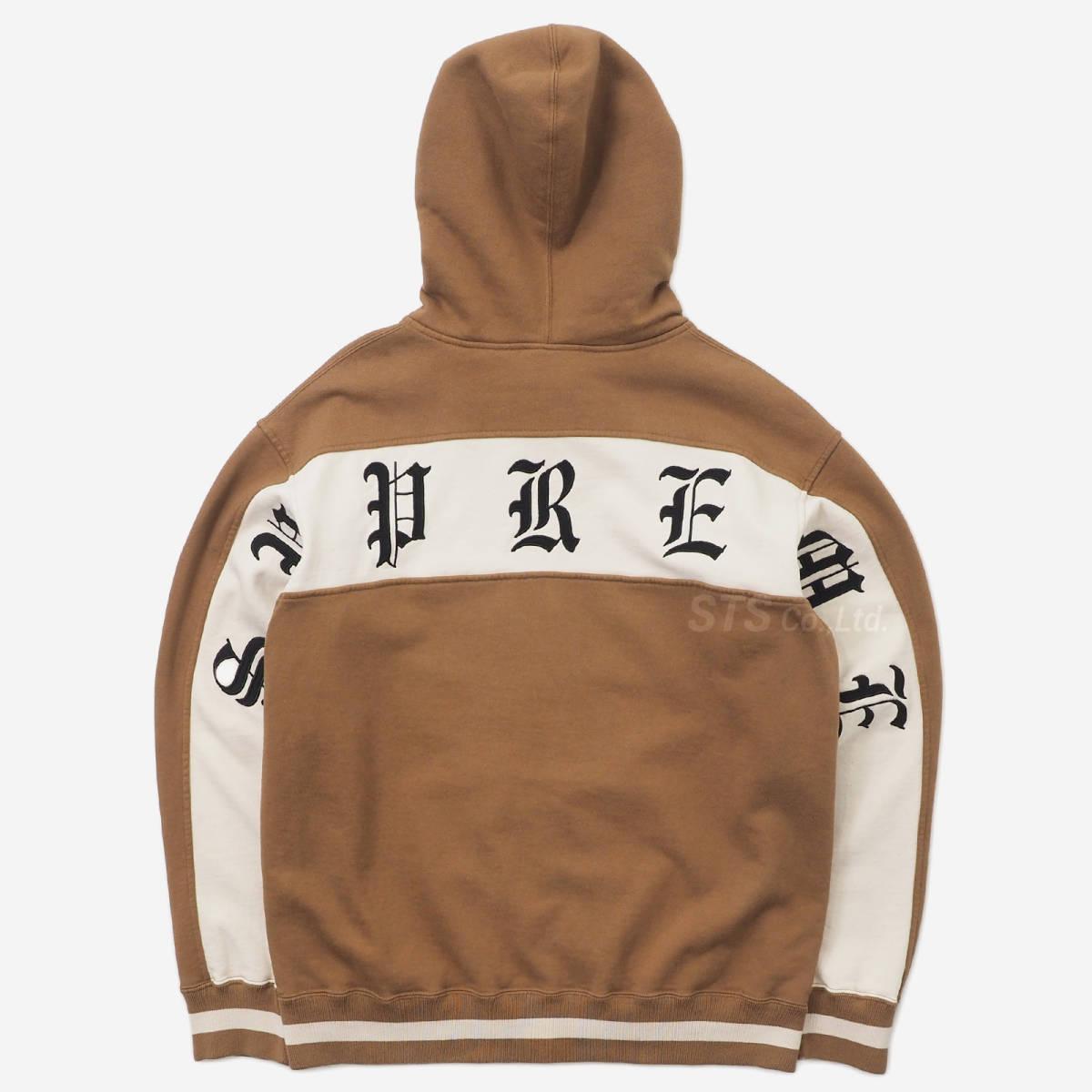 [新品] Supreme Old English Stripe Zip Up Sweatshirt [Mサイズ]