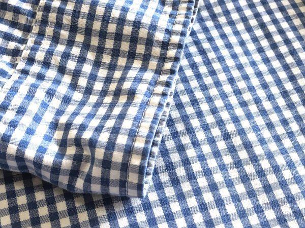 【アバクロンビー&フィッチ / アバクロ (Abercrombie&Fitch)】長袖ギンガムチェックシャツ size:L(XL-3L相当) ※185円で全国発送可_画像6