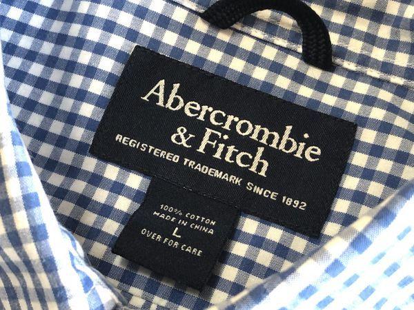 【アバクロンビー&フィッチ / アバクロ (Abercrombie&Fitch)】長袖ギンガムチェックシャツ size:L(XL-3L相当) ※185円で全国発送可_画像3
