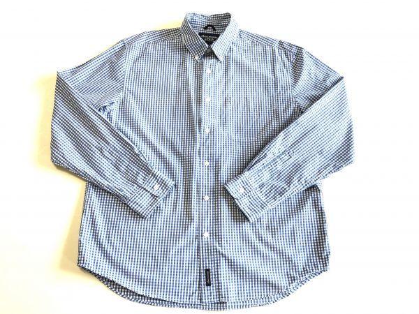【アバクロンビー&フィッチ / アバクロ (Abercrombie&Fitch)】長袖ギンガムチェックシャツ size:L(XL-3L相当) ※185円で全国発送可_画像2