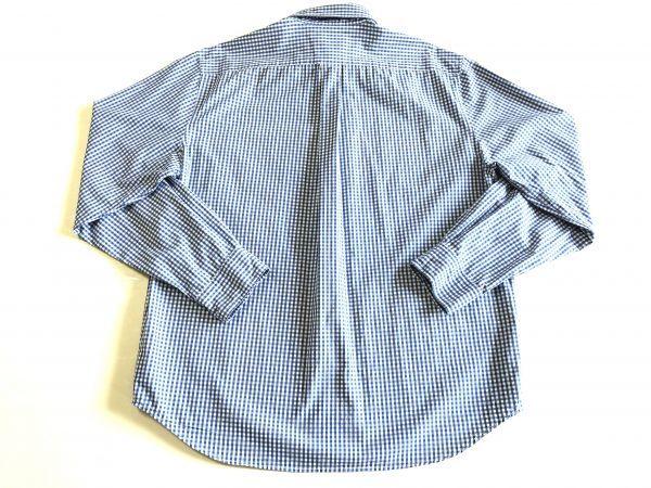 【アバクロンビー&フィッチ / アバクロ (Abercrombie&Fitch)】長袖ギンガムチェックシャツ size:L(XL-3L相当) ※185円で全国発送可_画像7