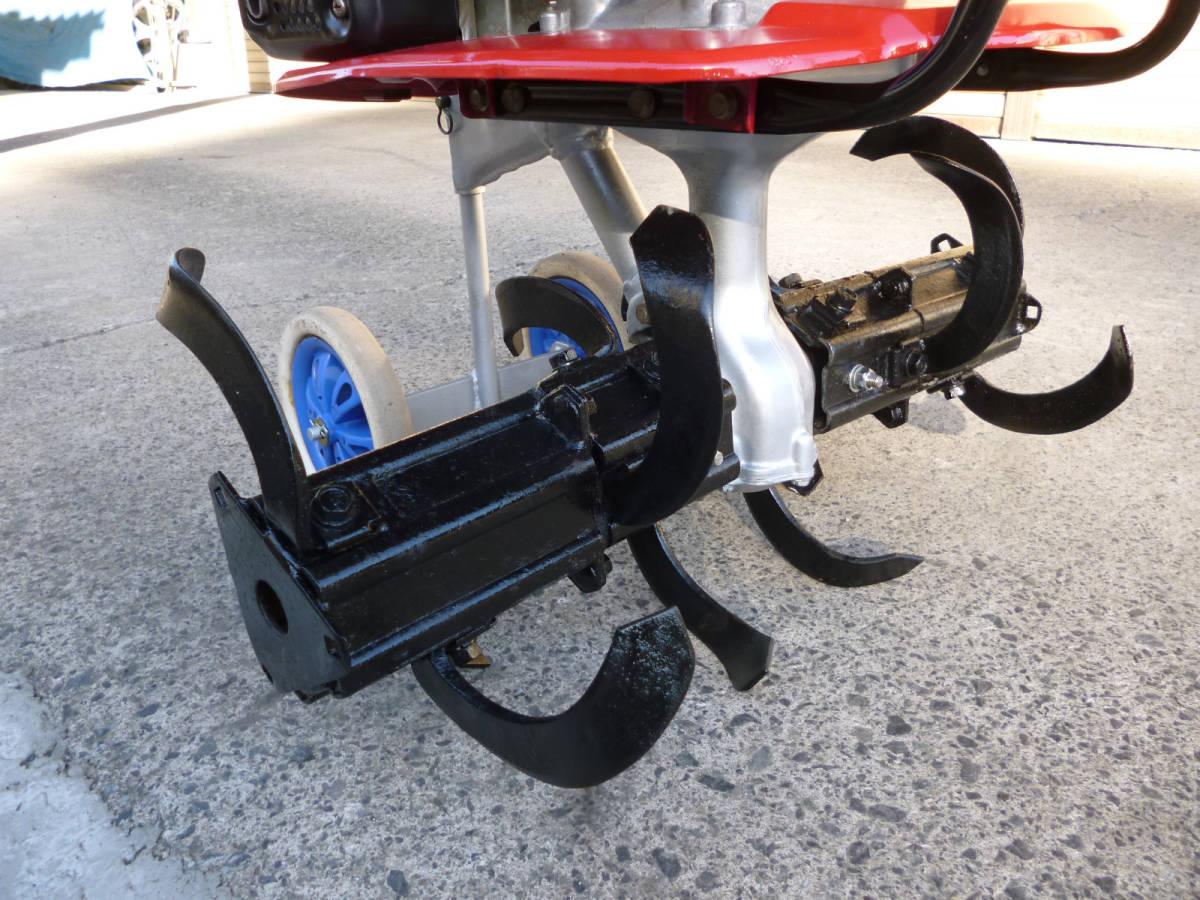 ホンダ管理機 こまめ F210 移動車輪、抵抗棒付き 実動品_画像2