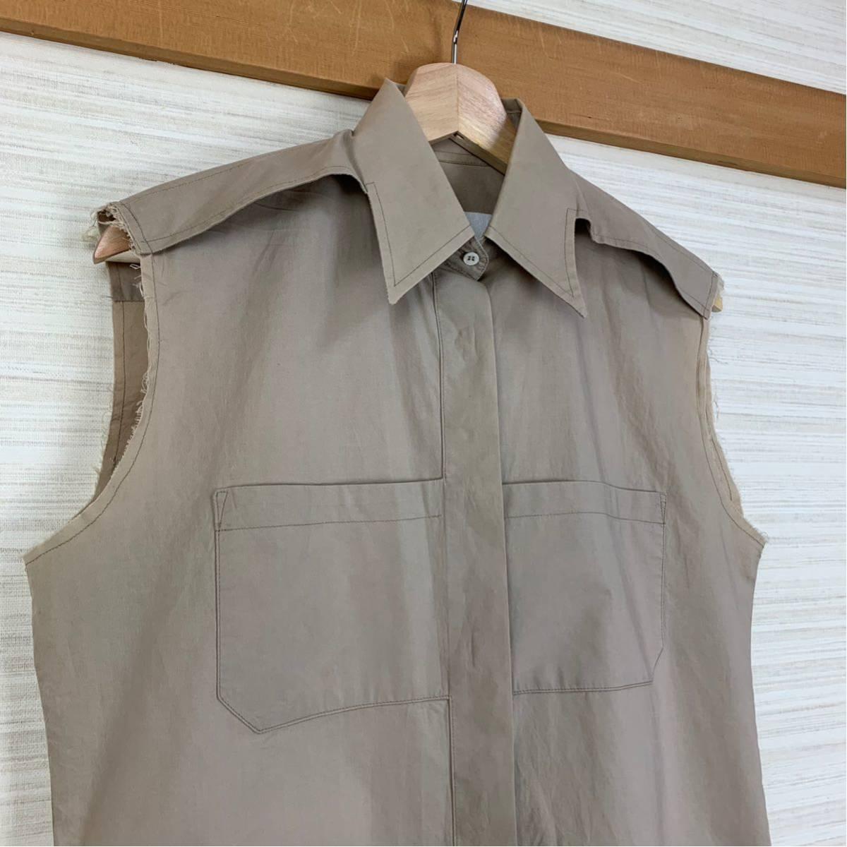Martin Margiela 初期 変形カットオフシャツ 白タグ 2003SS アーティザナル Maison メゾンマルタンマルジェラ 1円スタート レディース _画像2