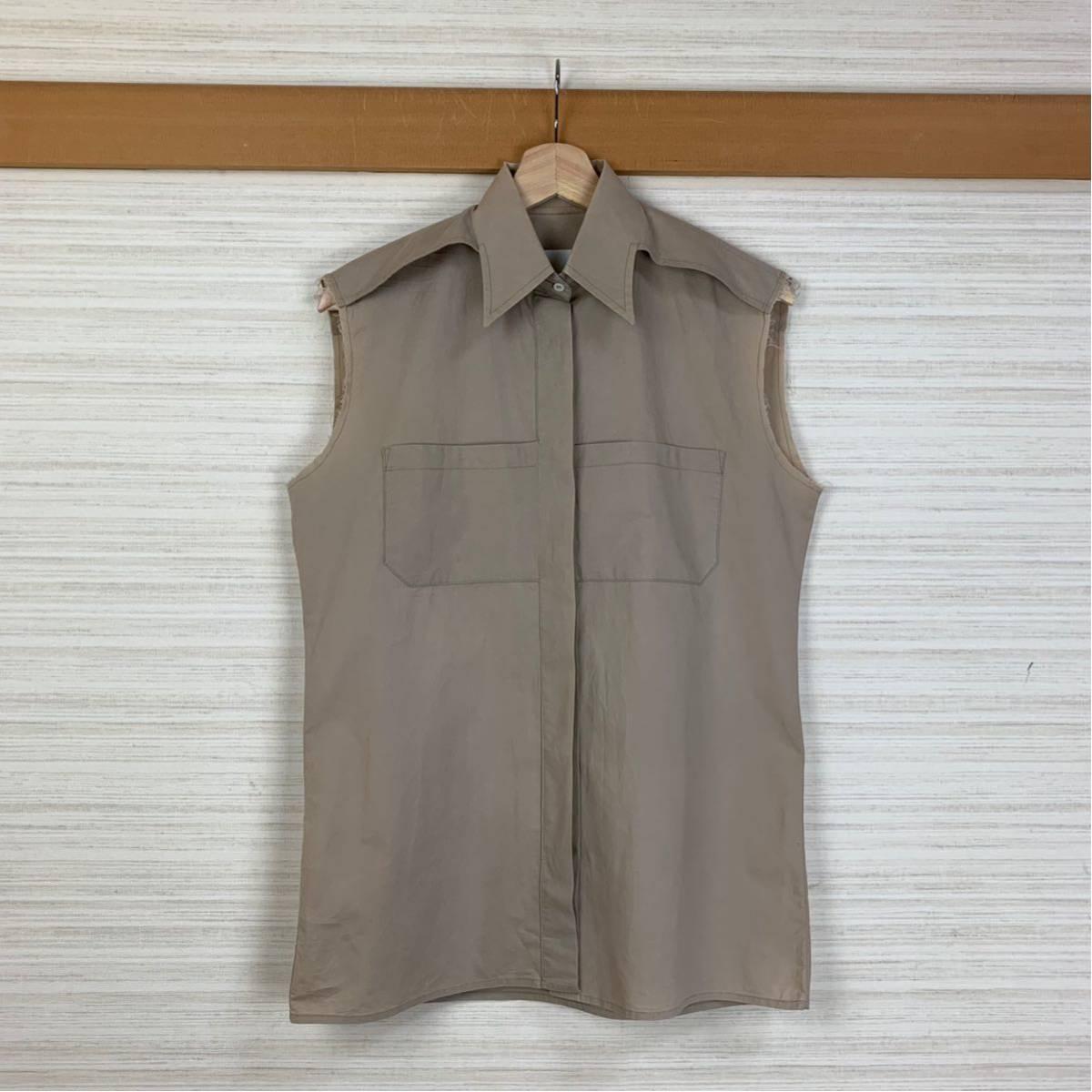 Martin Margiela 初期 変形カットオフシャツ 白タグ 2003SS アーティザナル Maison メゾンマルタンマルジェラ 1円スタート レディース