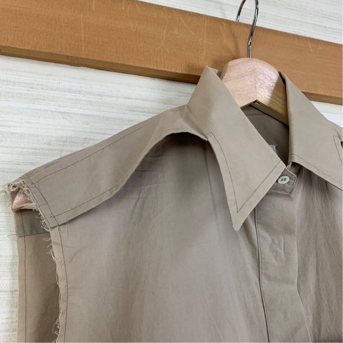 Martin Margiela 初期 変形カットオフシャツ 白タグ 2003SS アーティザナル Maison メゾンマルタンマルジェラ 1円スタート レディース _画像3