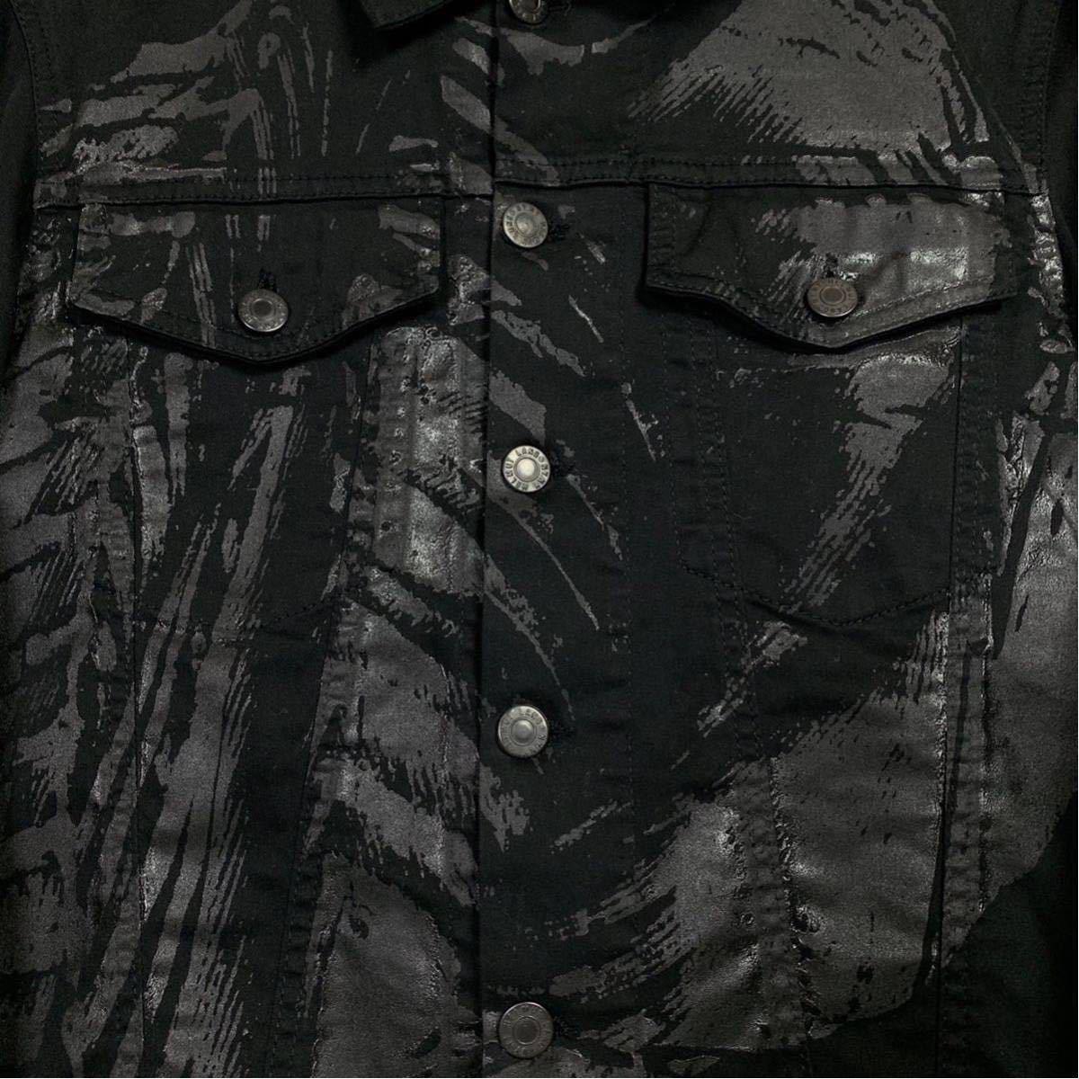 Helmut Lang 初期 ペンキペイント ジャケット コットン ブラック ヘルムートラング イタリア製 本人期 アーカイブ 1円スタート メンズ_画像4