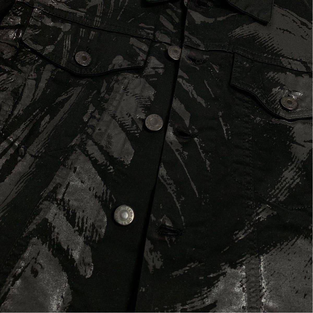Helmut Lang 初期 ペンキペイント ジャケット コットン ブラック ヘルムートラング イタリア製 本人期 アーカイブ 1円スタート メンズ_画像6