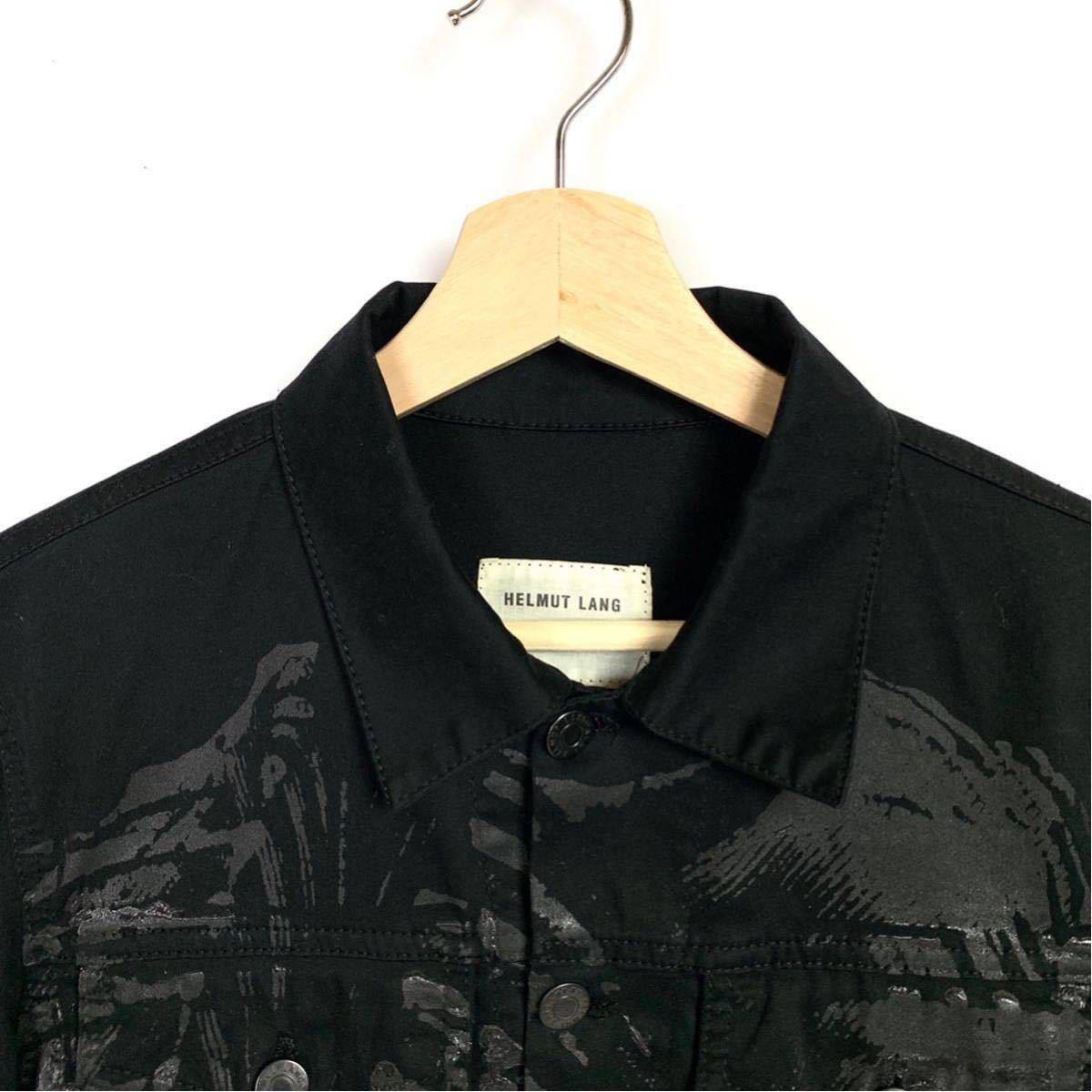 Helmut Lang 初期 ペンキペイント ジャケット コットン ブラック ヘルムートラング イタリア製 本人期 アーカイブ 1円スタート メンズ_画像5