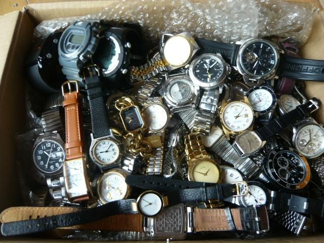 【超大量450本】オメガ、グッチ、ハミルトン他 自動巻き、手巻き、クォーツ腕時計 ジャ