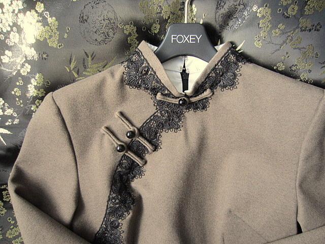 新品同様の美品 改良漢服・旗袍 レース チャイナドレス/チャイナ服 ロング丈 M/国内未入荷 完売品:レトロ・ クラシック ・シノワズリ_実物画像。少し明るめです