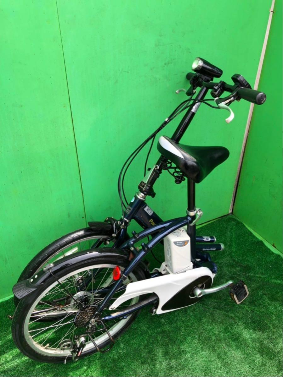 パナソニック電動自転車 20インチ 6段ギヤ 折りたたみ式 コン_画像6
