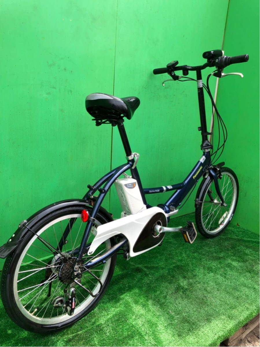 パナソニック電動自転車 20インチ 6段ギヤ 折りたたみ式 コン_画像9