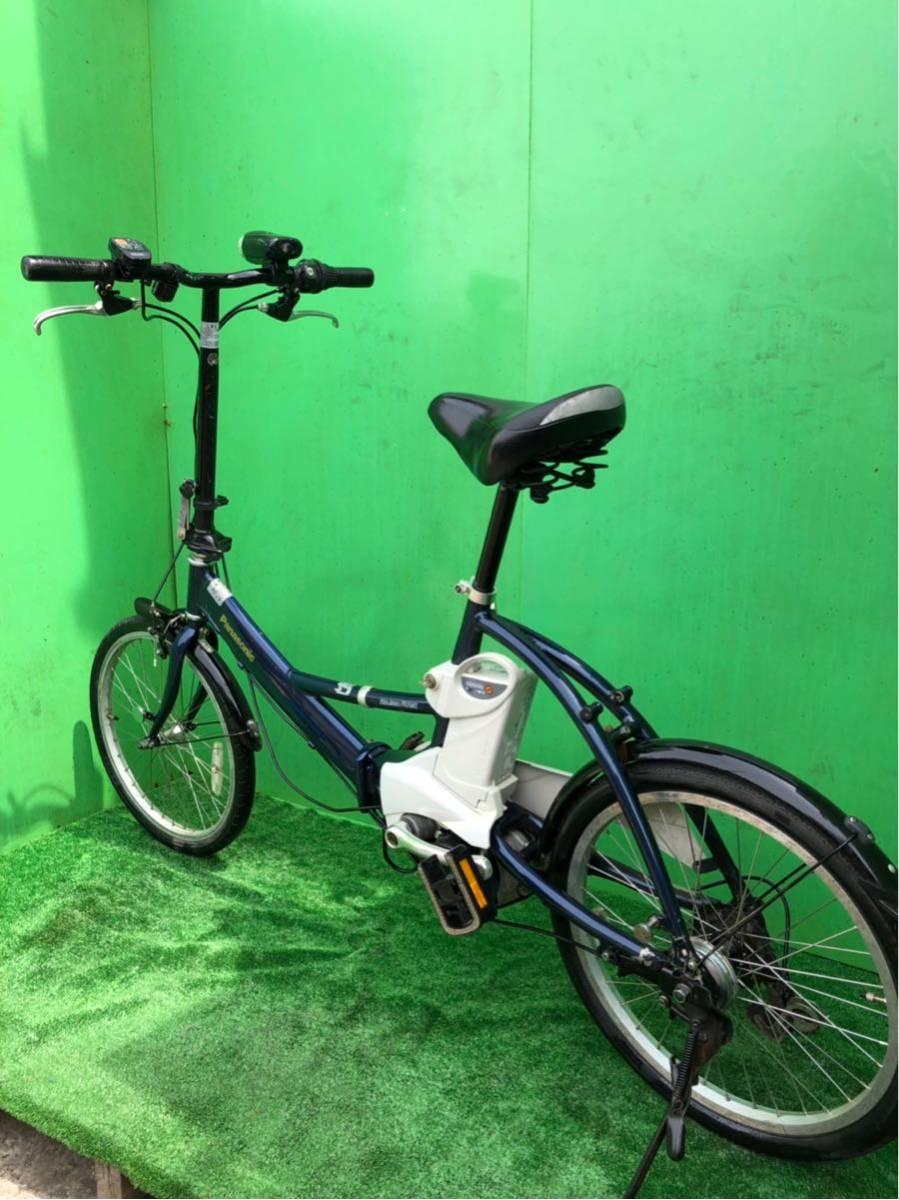 パナソニック電動自転車 20インチ 6段ギヤ 折りたたみ式 コン_画像10