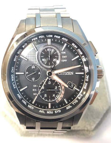 34271 CITIZEN ATTESA ECO-DRIVE シチズン アテッサ エコドライブ 腕時計 黒 ソーラー 電波 H804-T018696 稼働中
